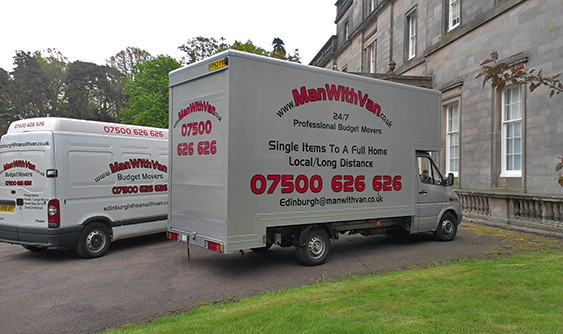 Man with a Van removals Edinburgh